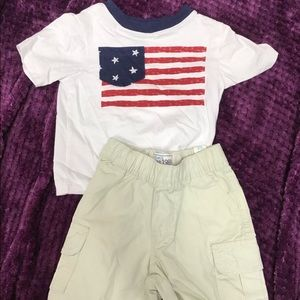 NWT children's place American flag outfit